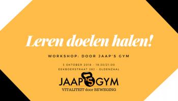 Vitaliteit door nieuwe doelen halen! (Workshop 3 oktober)