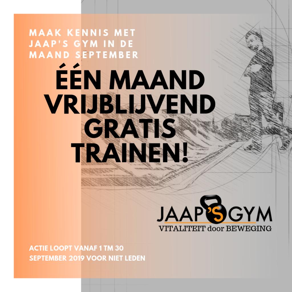 Maak kennis met Jaap's Gym in de maand September